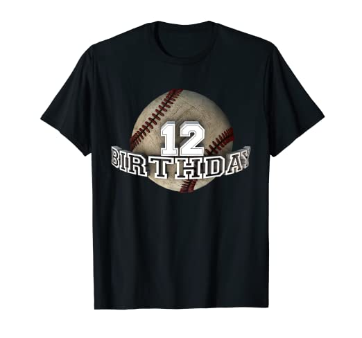 Amazon Cute Twelfth 12 Years Old Birthday Party 12th Baseball