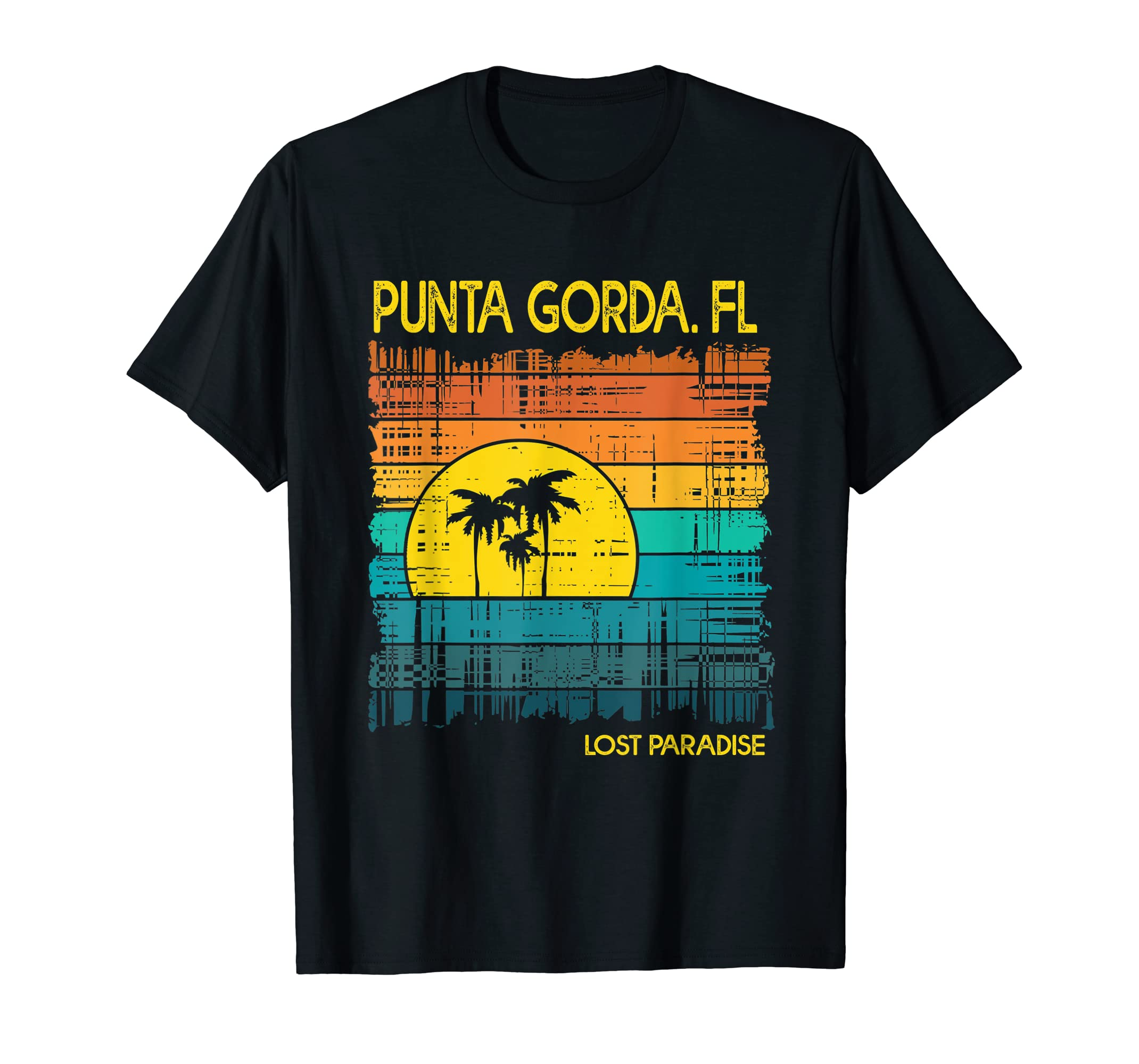 Punta Gorda Beach Florida Shirt Sunset-Men's T-Shirt-Black