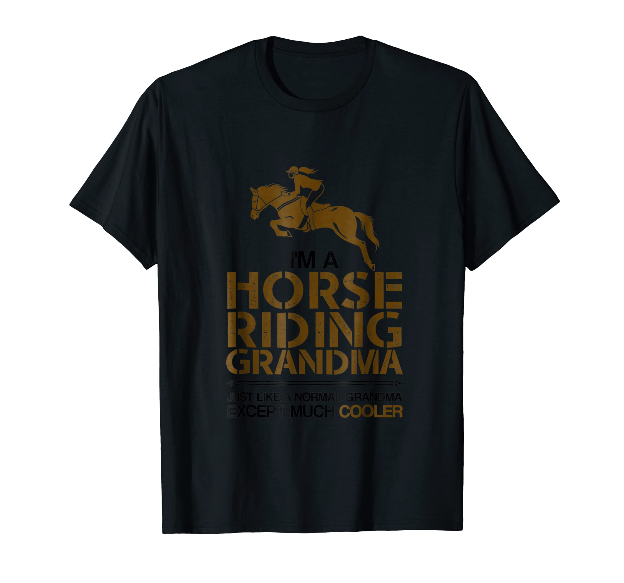 Funny Mother's Day Quotes Gift, Grandma Horse Lover T-Shirt-Men's T-Shirt-Black