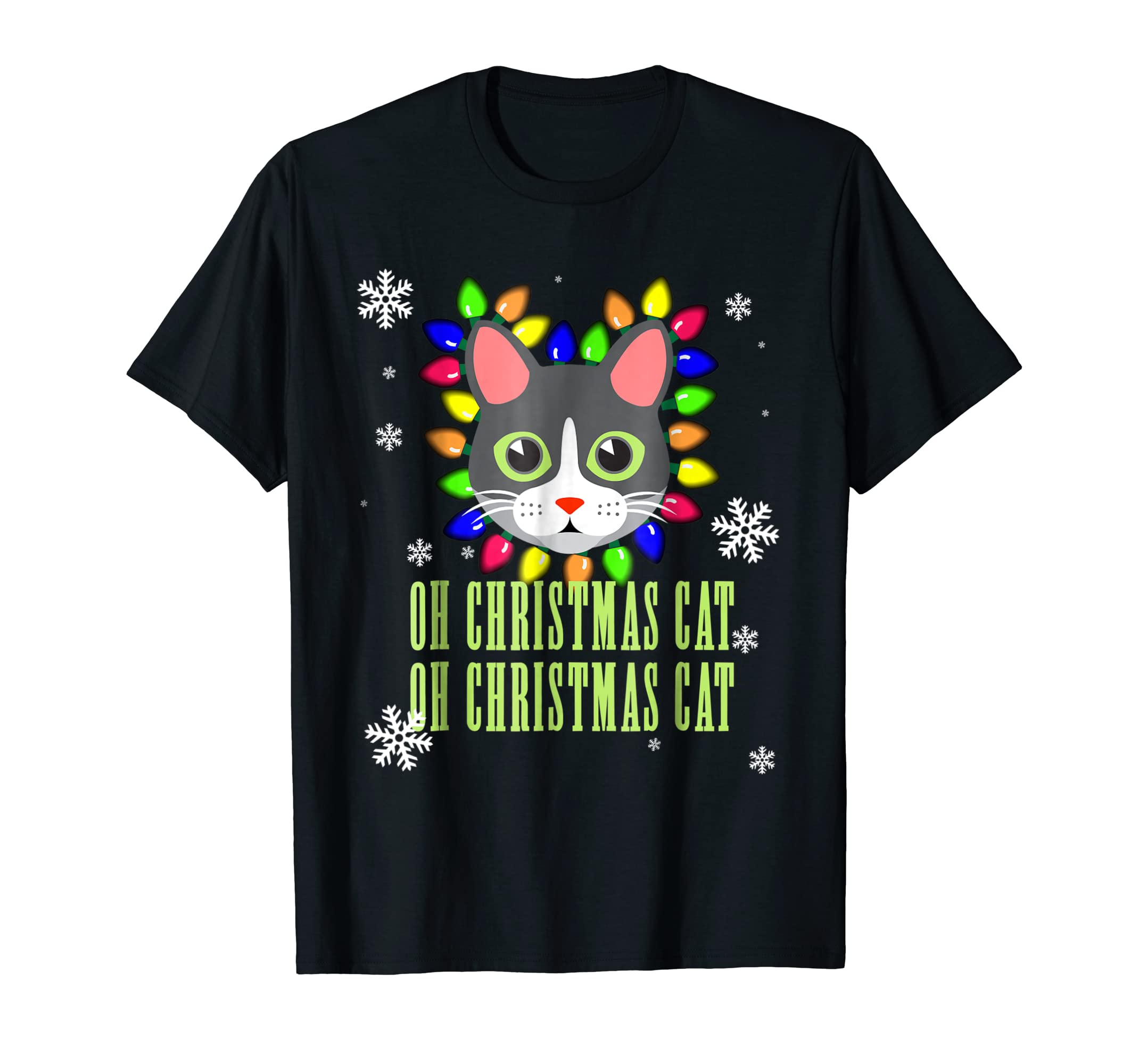 Funny Cat Christmas Gift Shirt Oh Christmas Cat-azvn
