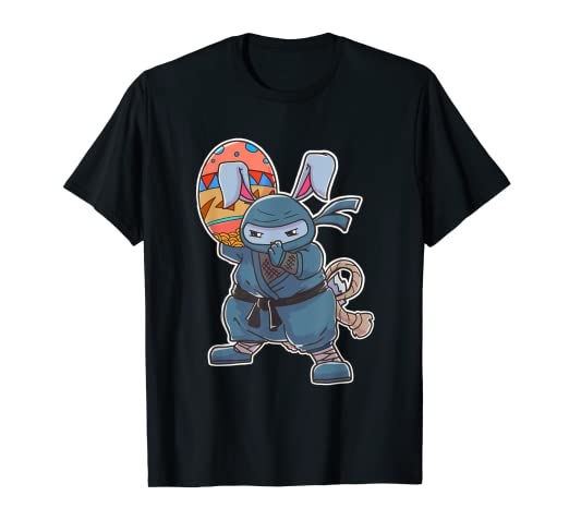 Amazon.com: Easter Bunny Ninja Egg Hunting T Shirt: Clothing