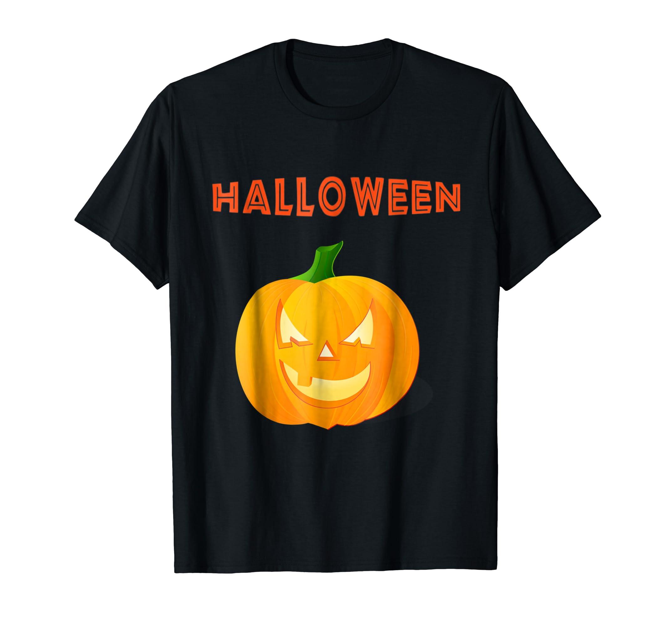 very nice halloween pumpkin funny T shirt-Teesml