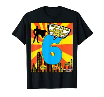 Image Unavailable Not Available For Color Superhero Birthday Shirts Boys Size 6