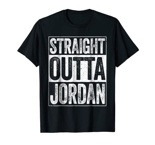 af22779763f Amazon.com: Straight Outta Jordan T-Shirt Hashemite Kingdom of ...