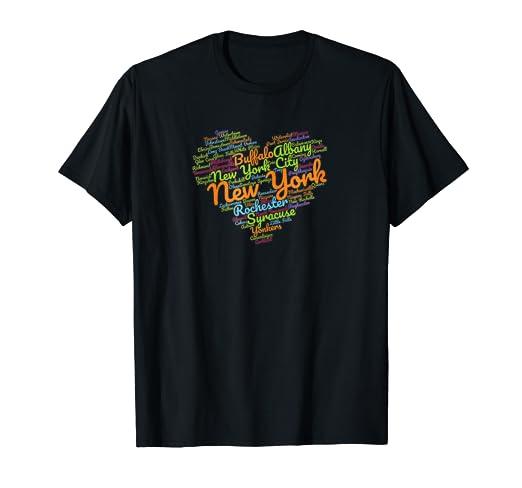 Amazon.com  Retro I Heart New York Colorful Love NYC Custom Gift T ... a4f837a2f32