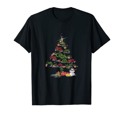 motorcycle christmas tree t shirt funny biker xmas holiday - Biker Christmas