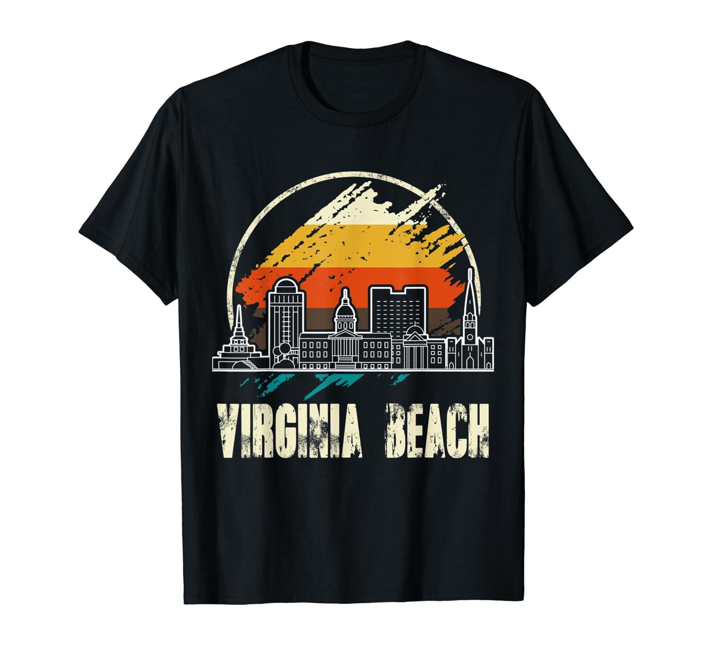 Virginia Beach City Retro Vintage Skyline Gifts T Shirt