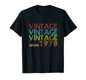 Amazon Vintage 1978 40 Years Old 40th Birthday 70s Gift T