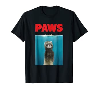 87a5d4546 Image Unavailable. Image not available for. Color: Paws Ferret Funny T-Shirt  ...