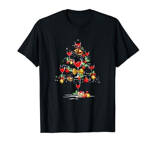 wine christmas tree t shirt wine xmas tee