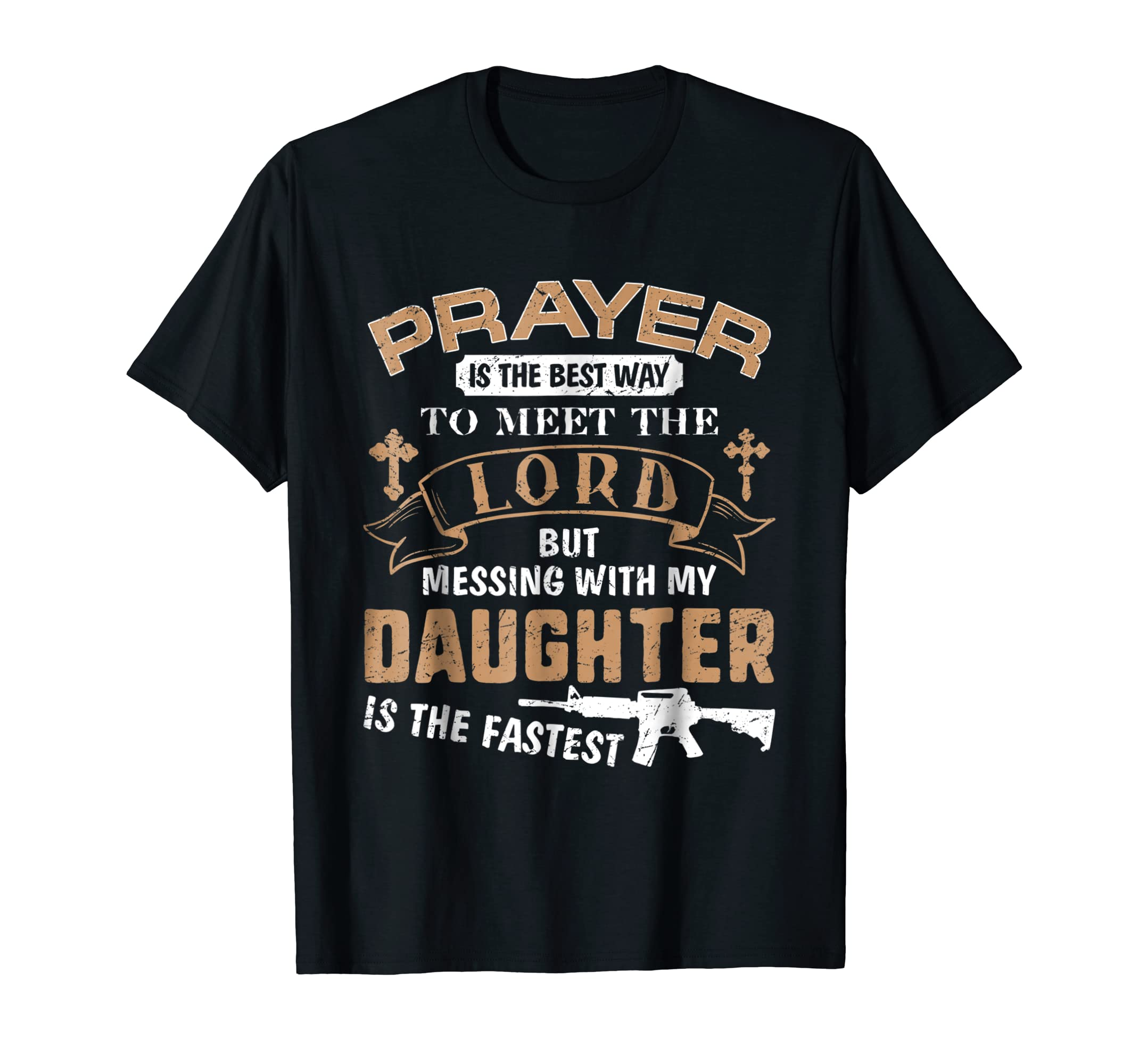Father Proud Daddy Tee If You Mess My Daughter Gift T Shirts-Men's T-Shirt-Black