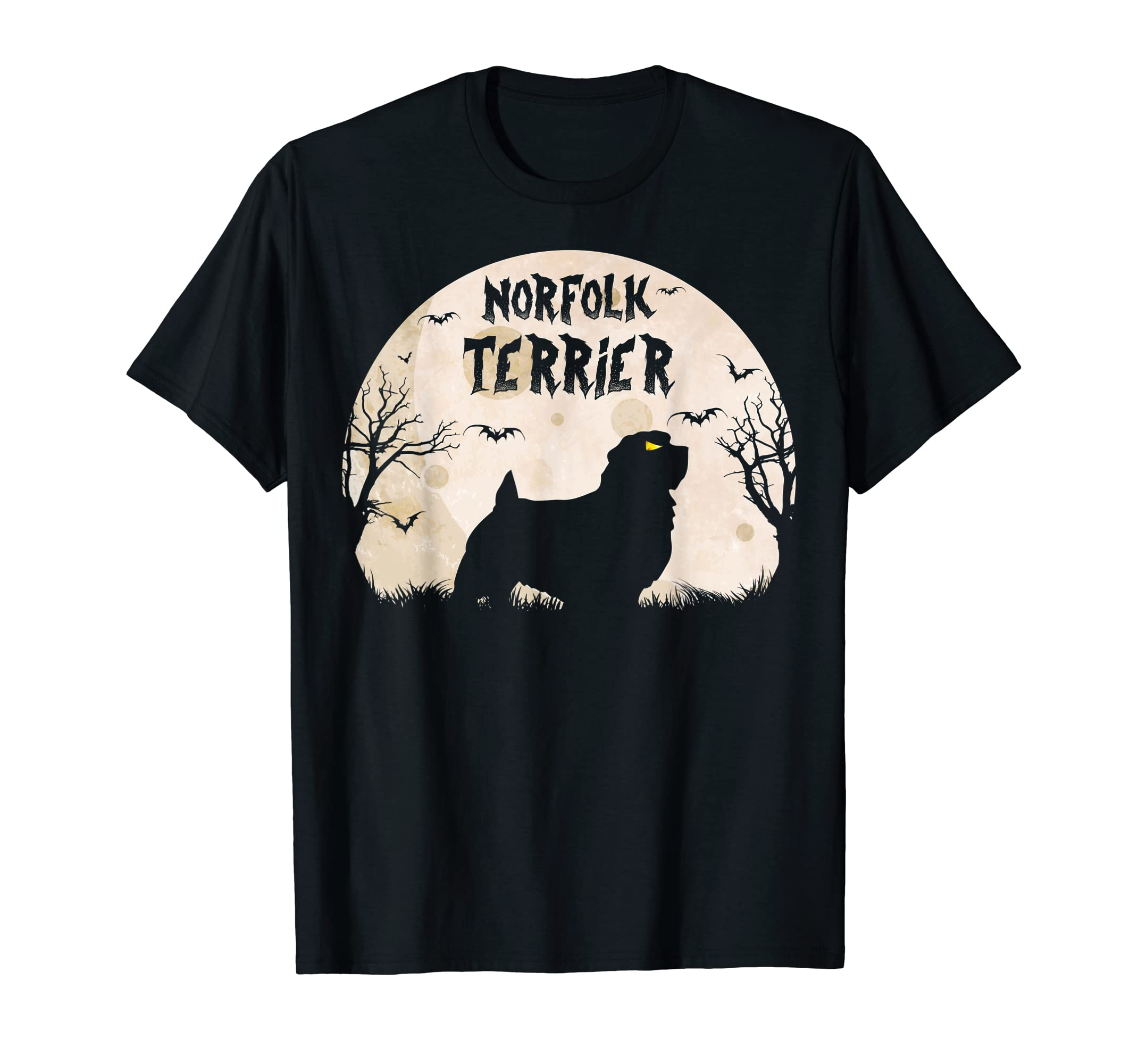 Halloween Horror Norfolk Terrier T-Shirt-Men's T-Shirt-Black