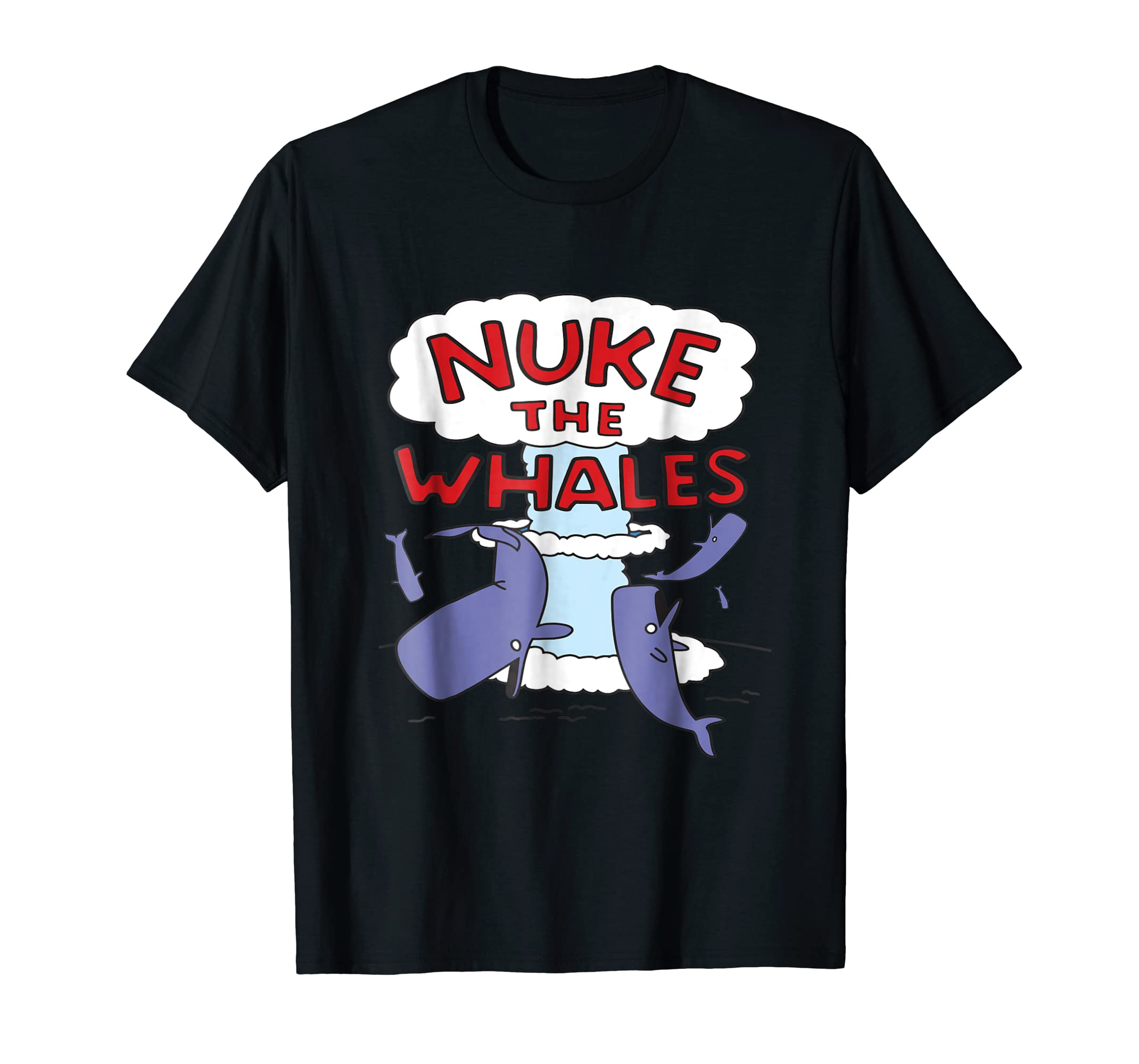 Nuke the Whales Lisa Nelson Shirt-Men's T-Shirt-Black