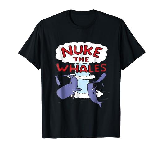 3fcbc7086 Amazon.com: Nuke the Whales Lisa Nelson Shirt: Clothing