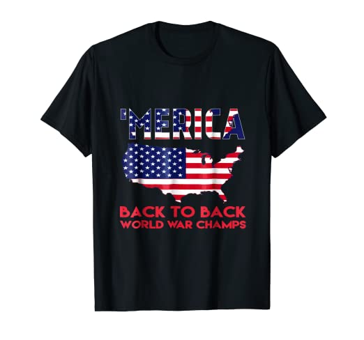 b7745f65 Image Unavailable. Image not available for. Color: Merica Back To Back  World War Champions, Champs Shirt