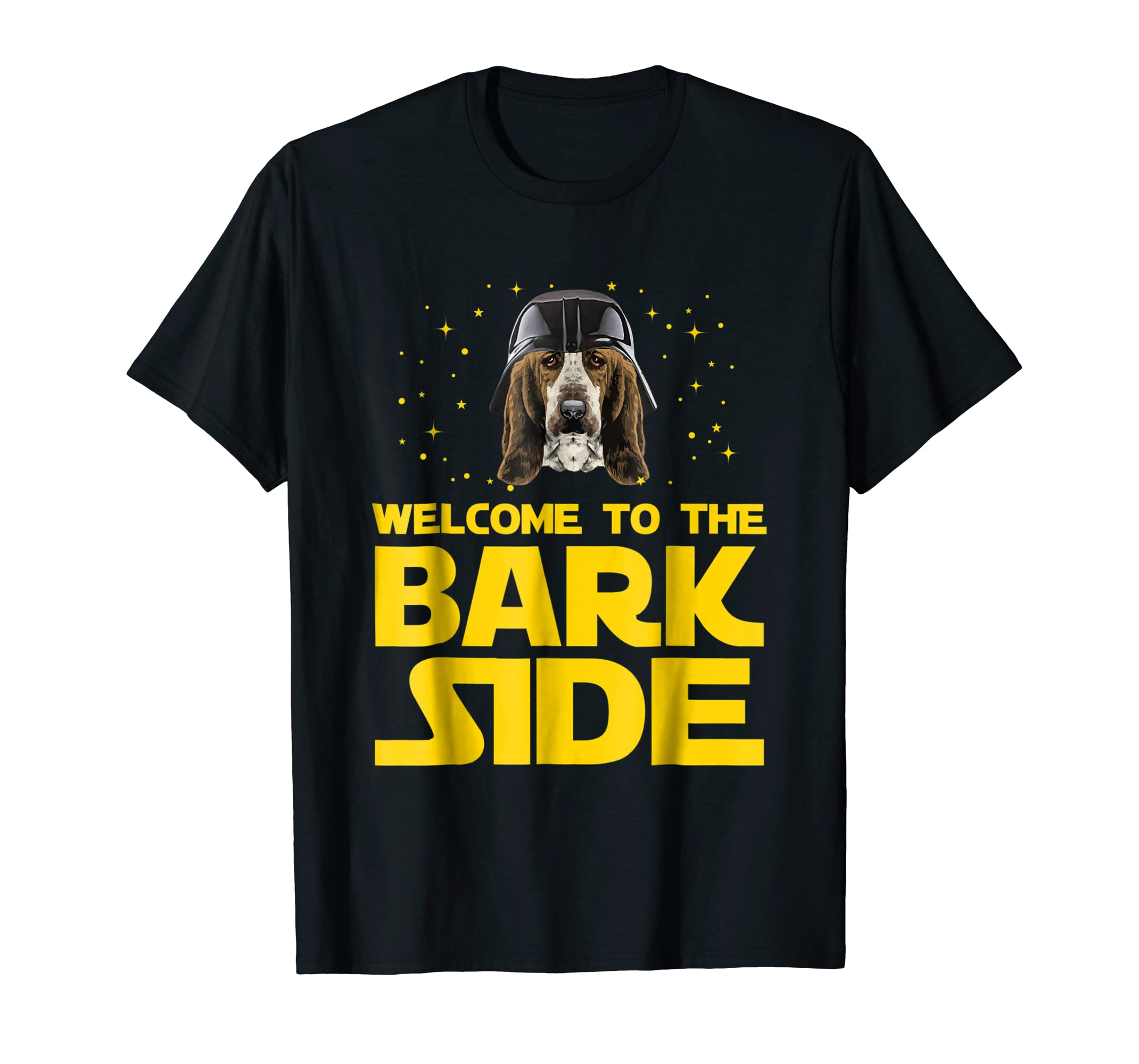 Welcome to the Bark Side of Basset Hound Funny T shirt Gifts-Men's T-Shirt-Black