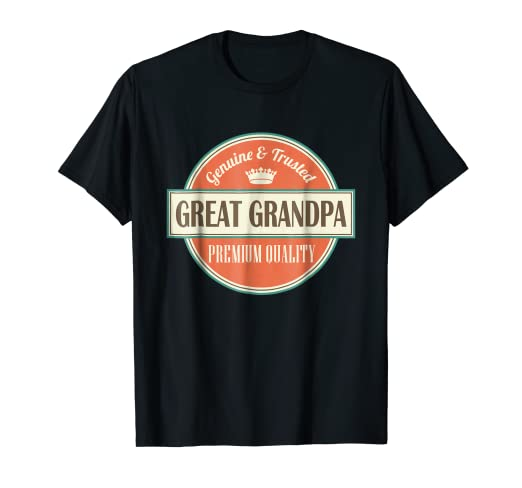 Image Unavailable. Image not available for. Color  Great Grandpa T-shirt  Vintage Fathers Day Gift Tee 1fd27a41725e