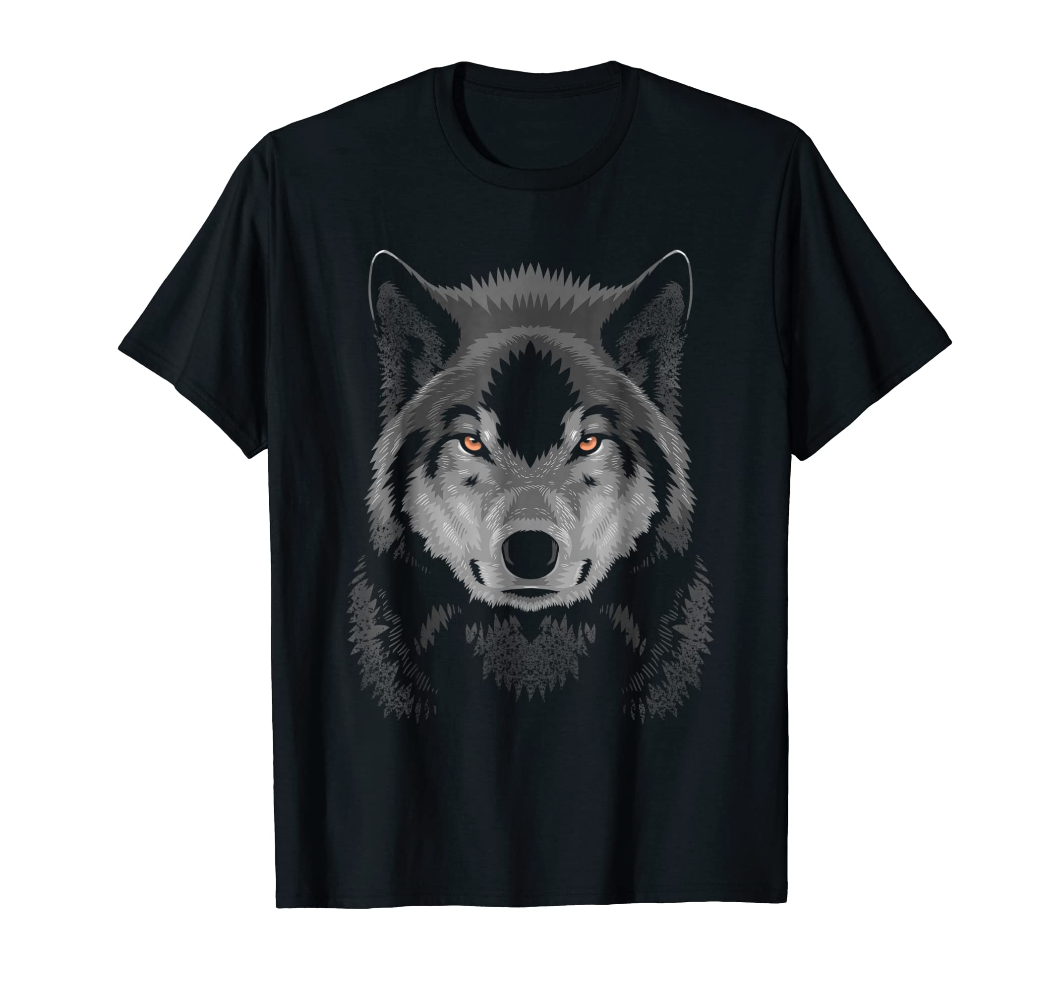 Amazing wolf shadow face T-Shirt-AZP