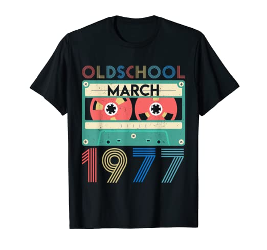 Amazon March 1977 Tshirt Vintage 42nd Birthday Gift Ideas Him