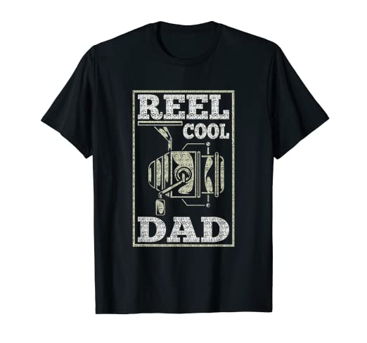 4c8561e4 Image Unavailable. Image not available for. Color: Mens Reel Cool Dad T- Shirt ...