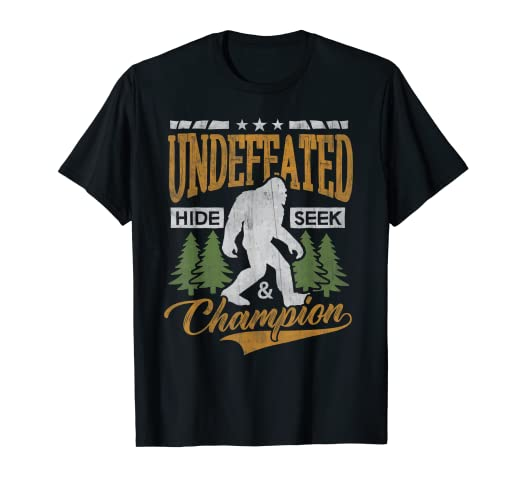 cd104c573 Image Unavailable. Image not available for. Color: Bigfoot T-shirt  Undefeated Hide & Seek Sasquatch Yeti Gift