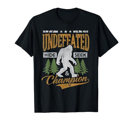 c1de3325f Image Unavailable. Image not available for. Color: Bigfoot T-shirt  Undefeated Hide & Seek Sasquatch ...