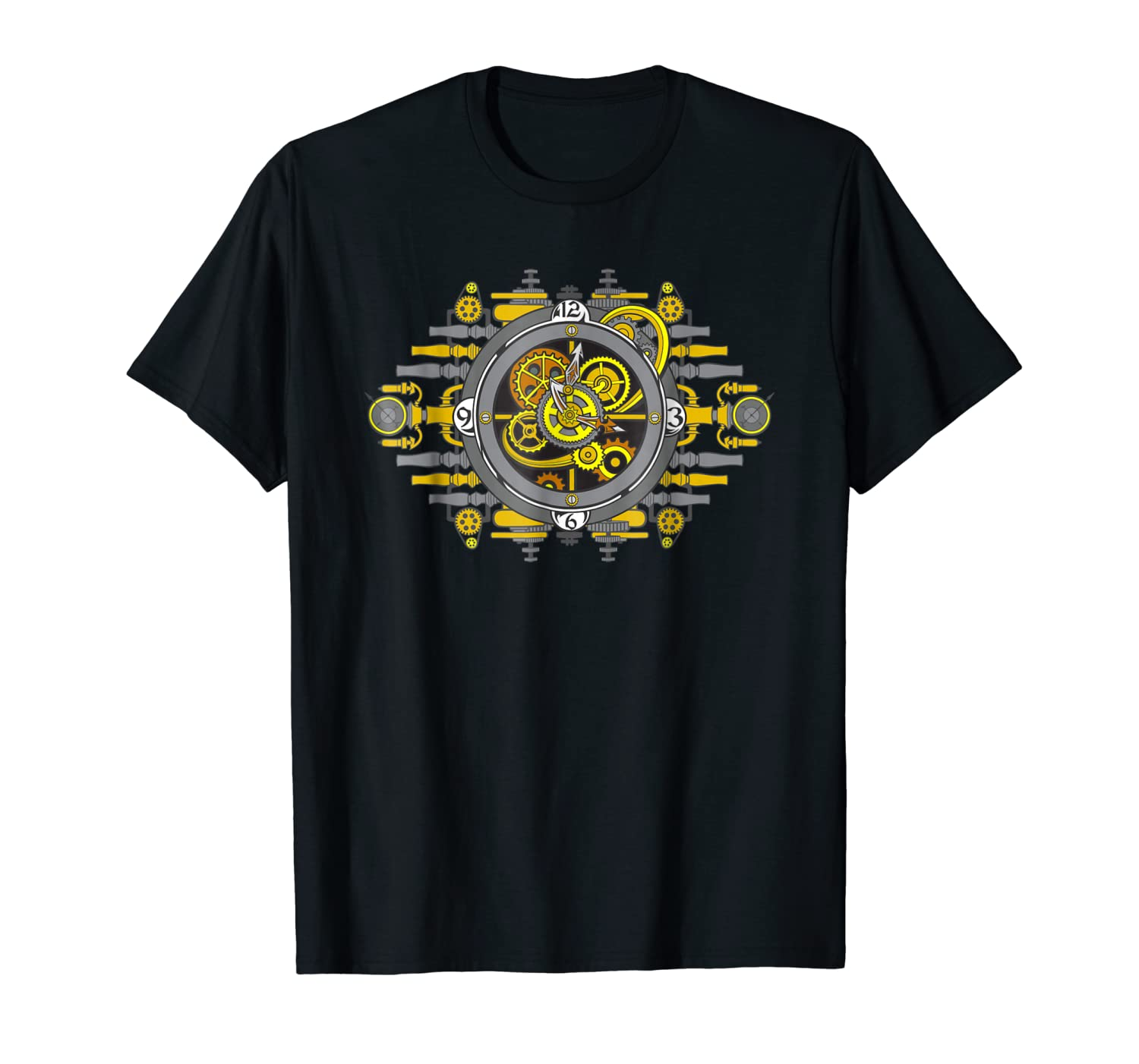 Fantasy Steampunk Mechanical Clock and Gears Cogs T-shirt