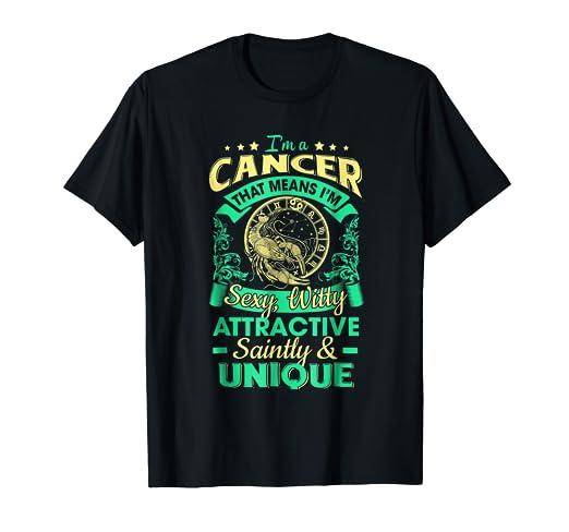 Best T Shirt For Cancer Men Women Great Birthday Gift