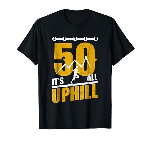 7cf703cbed3 Amazon.com  Funny Running T shirt 50 years old 50th Birthday Gift ...
