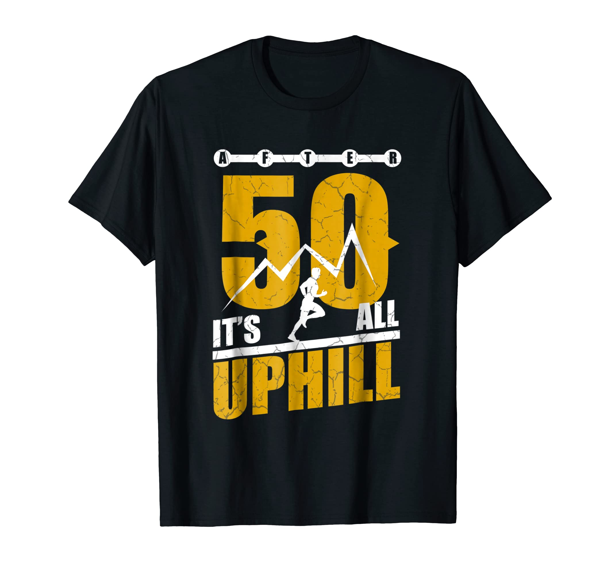 photos officielles 217d5 04329 Amazon.com: Funny Running T shirt 50 years old 50th Birthday ...