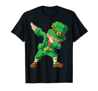 aaac5f590 Image Unavailable. Image not available for. Color: St Patricks Day Shirt  Dabbing Leprechaun Boys Kids Men Dab
