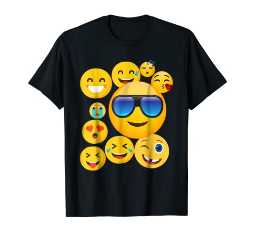2e1f2d0152e3 Image Unavailable. Image not available for. Color: emoji wear -shirt  Emoticon Cute smileys Face T-Shirt
