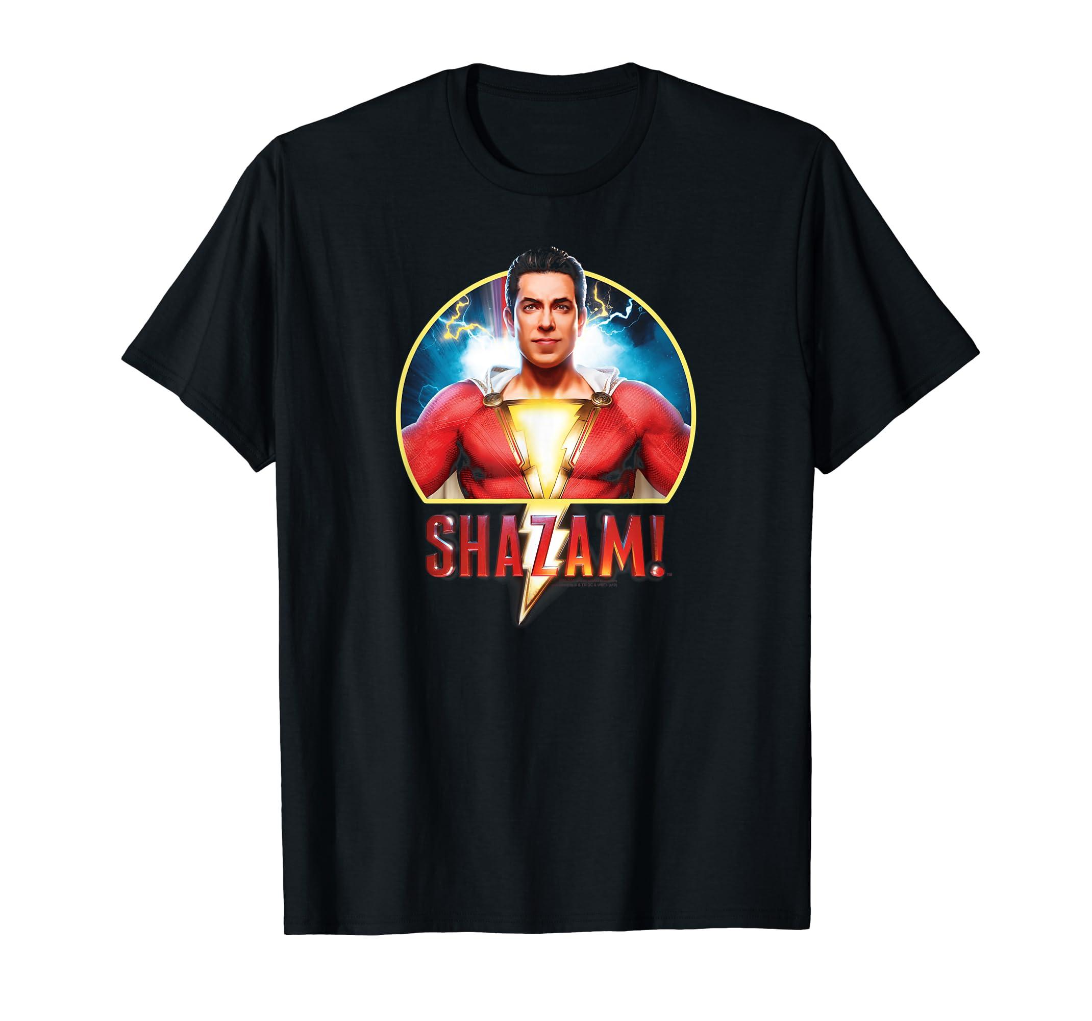 4ea603e57e Amazon.com: Shazam! Movie Portrait T Shirt: Clothing