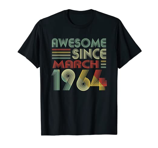Amazon March 1964 T Shirt 55 Years Old 55th Birthday