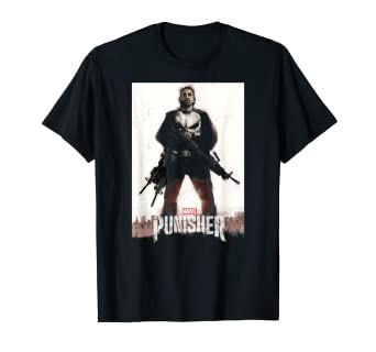 7c773ec7f06 Amazon.com: Marvel The Punisher Frank Castle One Man Army T-Shirt ...