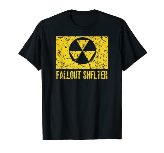 Fallout Shelter Nostalgia >> Amazon Com Fallout Shelter Nuclear War Radioactive Nostalgia T