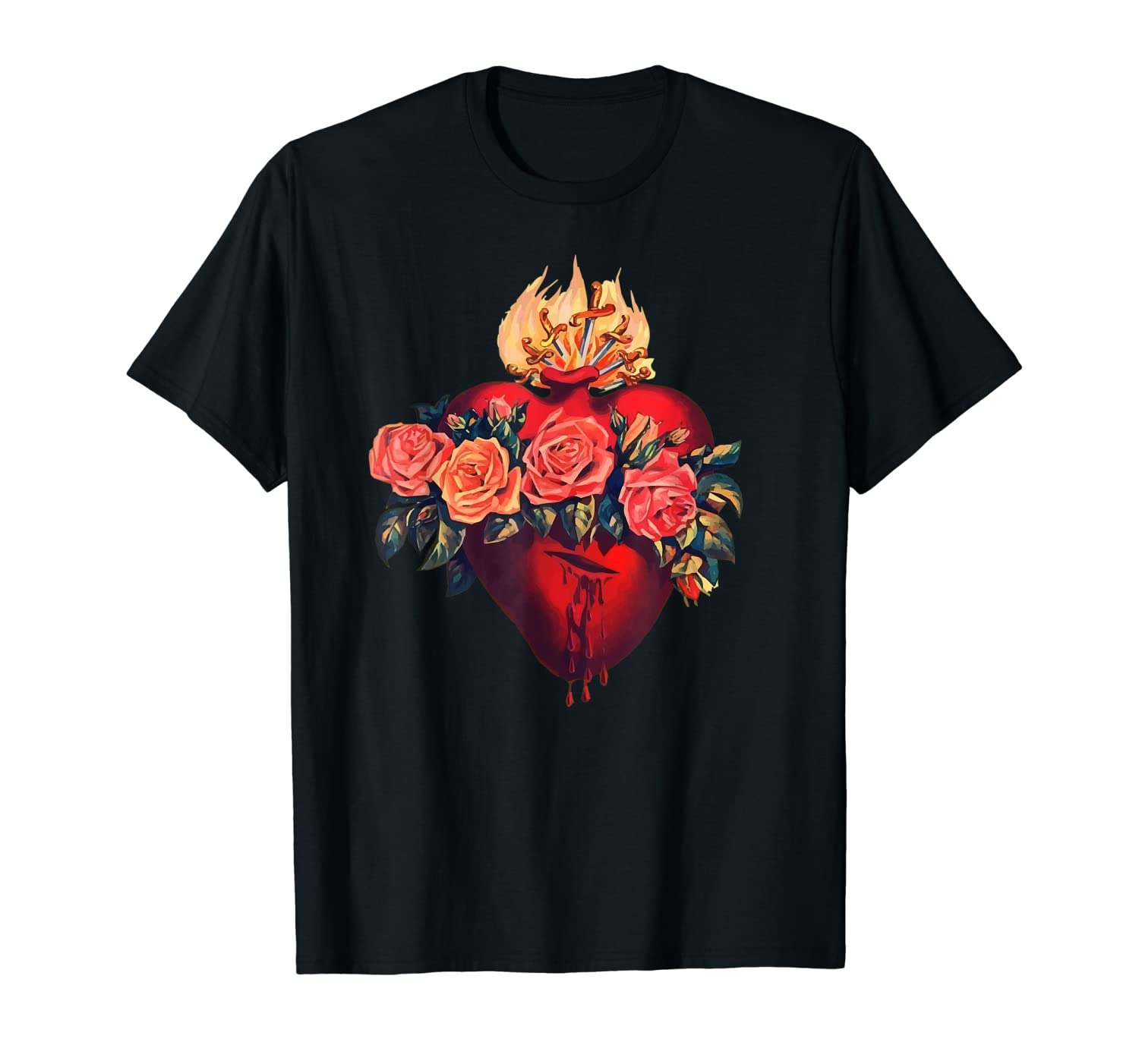 Immaculate Heart of Mary Shirt Vintage Blessed Catholic Art