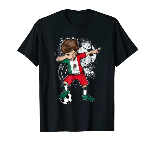 8cc30c941 Image Unavailable. Image not available for. Color  Dabbing Boy Mexico  Soccer Shirt Jersey Mexican Football Tee