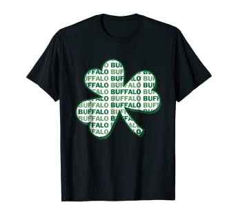 a330902c Image Unavailable. Image not available for. Color: Buffalo New York St  Patrick's Day Shamrock T-Shirt
