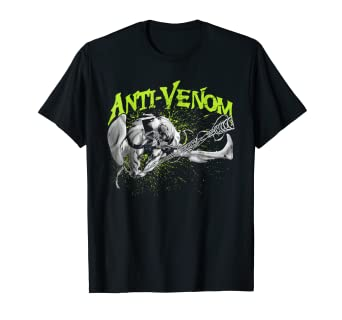 04a6992c5f7d Amazon.com: Marvel Venom Anti Venom Swing Splatter Graphic T-Shirt ...