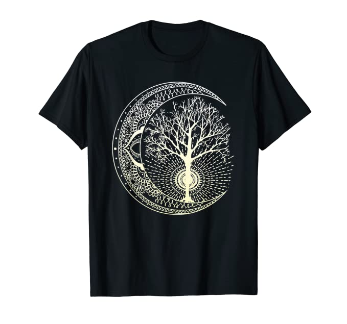 Mandala T-Shirt Tree of Life Tattoo Style Shirt