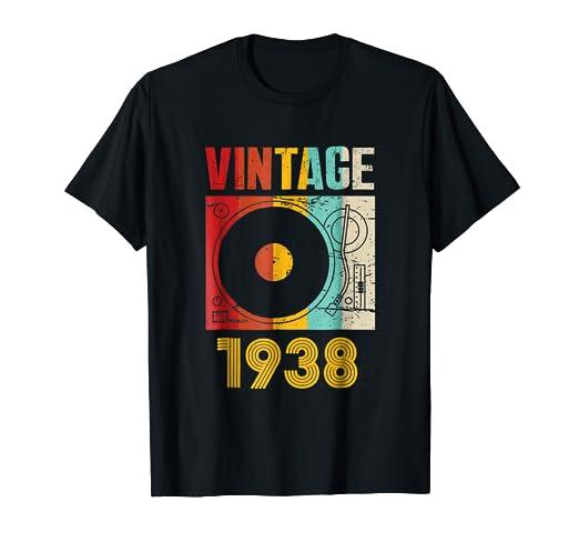 Amazon Vintage 1938 Retro Record Player Birthday Vinyl DJ T