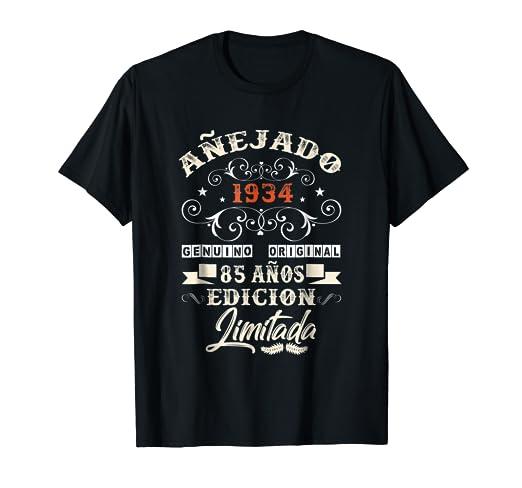 Amazon.com: Camiseta Cumpleanos 85 T-Shirt 1934 85 Anos ...