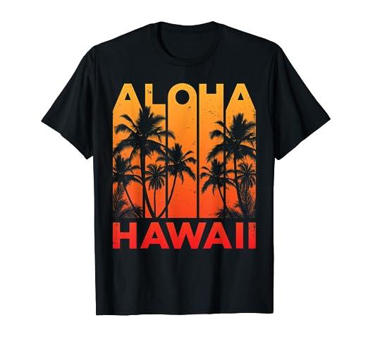 ef6ee206 Image Unavailable. Image not available for. Color: Aloha Hawaii Hawaiian  Island T shirt Vintage 1980s Throwback