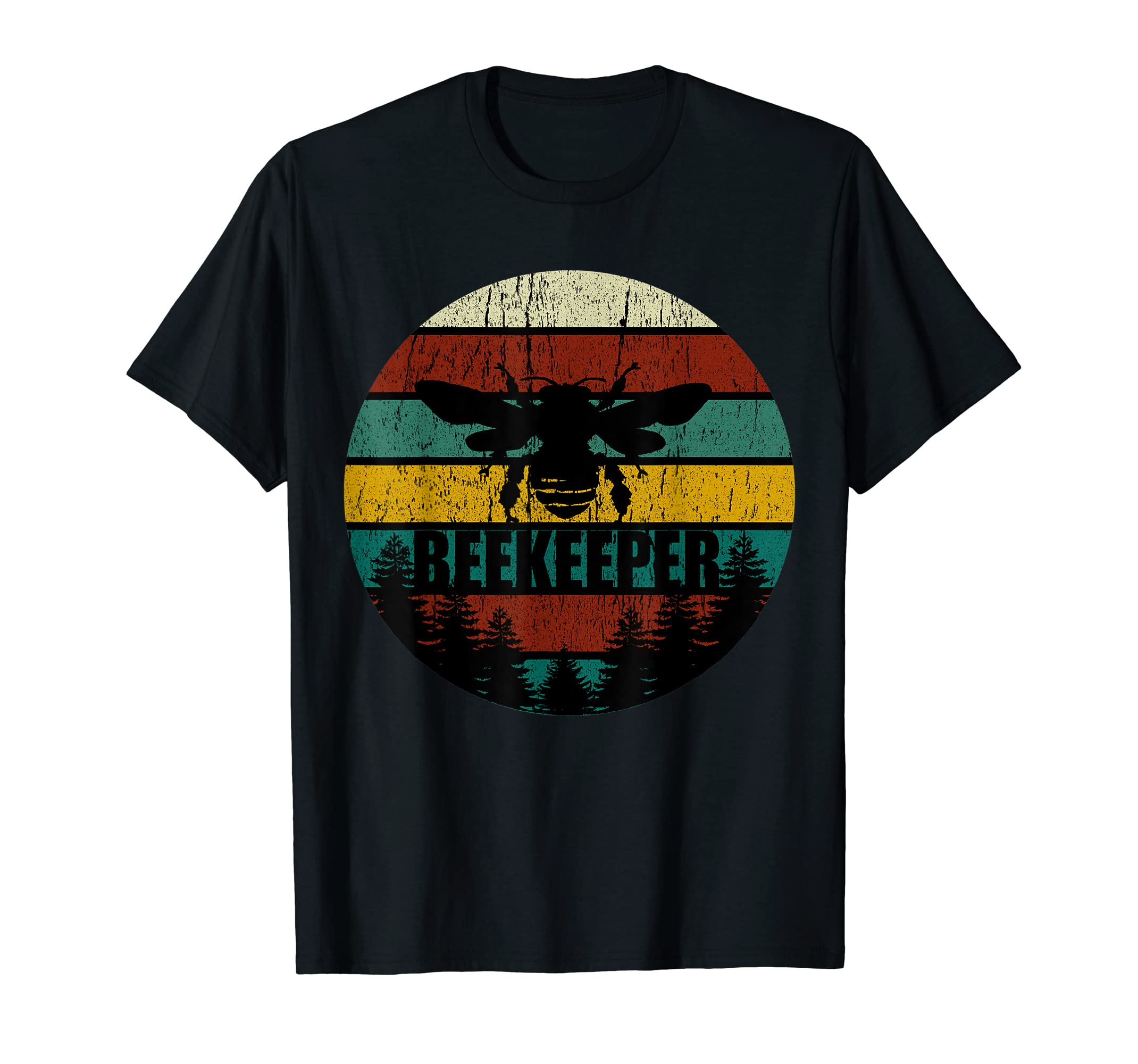Retro Vintage Beekeeper T-Shirt Beekeeping Bee tshirt Gift-Men's T-Shirt-Black