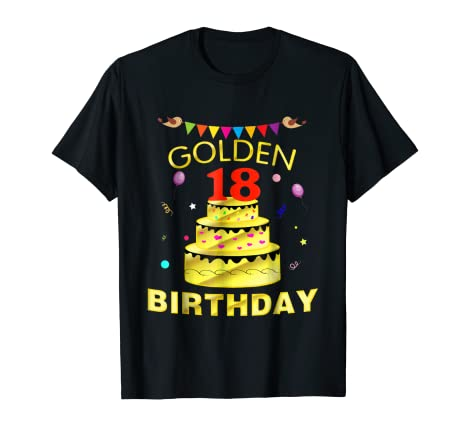 Image Unavailable Not Available For Color 18 Years Old 18th Golden Birthday Decorations