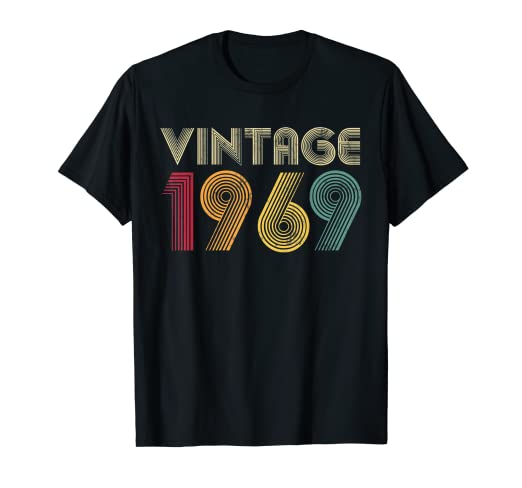 87b67c602 Image Unavailable. Image not available for. Color: 50th Birthday T Shirt  Gift Vintage 1969 Classic Men Women