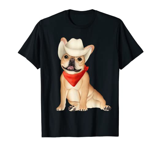 Amazoncom Cowboy French Bulldog Western Dog Shirt Clothing