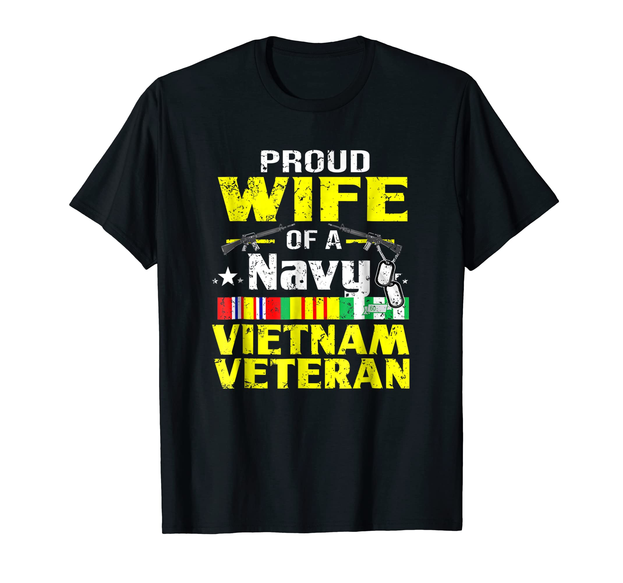Proud Wife Of A Navy Vietnam Veteran T shirt-Awarplus