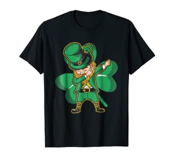 8ad930147 Image Unavailable. Image not available for. Color: Dabechaun - Funny  Leprechaun Dabbing St Patricks Day Shirt. Roll over image to ...